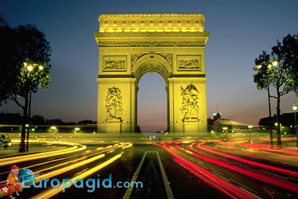 цена билета на триумфальную арку в Париже