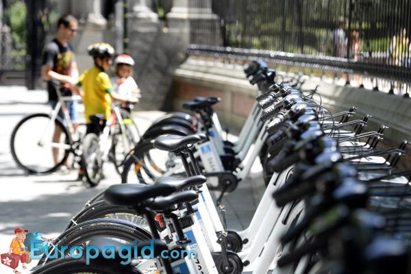 Прокат велосипедов в Мадриде