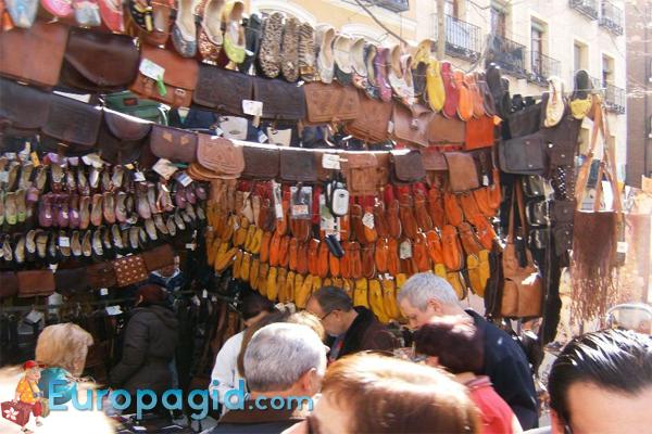 рынок Эль Растро в Мадриде