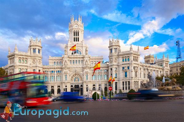 Plazade Cibeles в Мадриде для вас