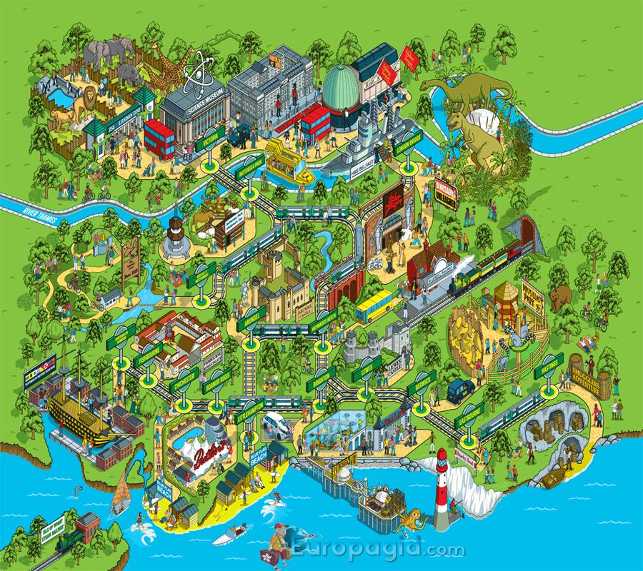 Лондонский зоопарк схема