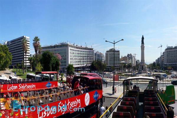 Маршруты туристических  автобусов в Лиссабоне