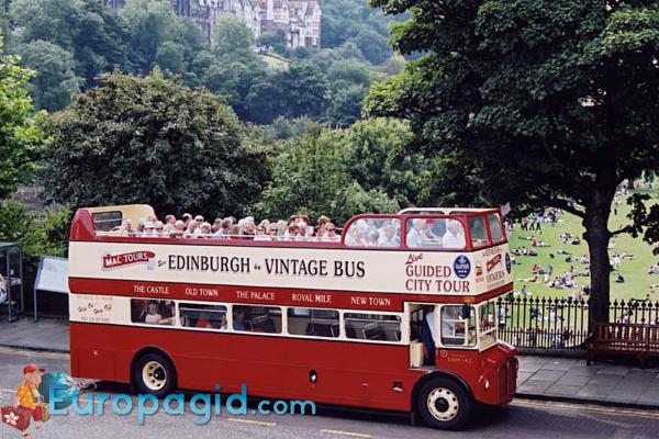 Туристический автобус в Лондоне