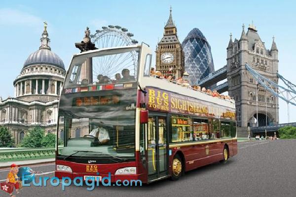 маршруты туристических автобусов в Лондоне