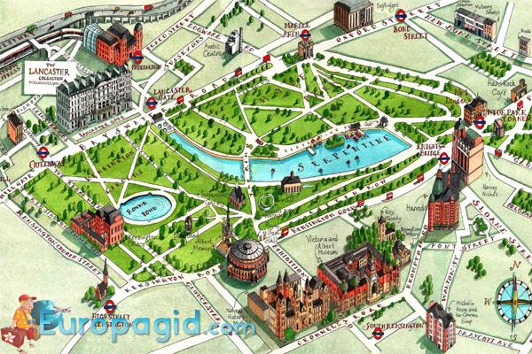 схема Гайд парка в Лондоне