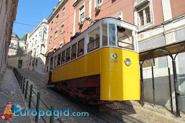 фуникулер Glória в Лиссабоне