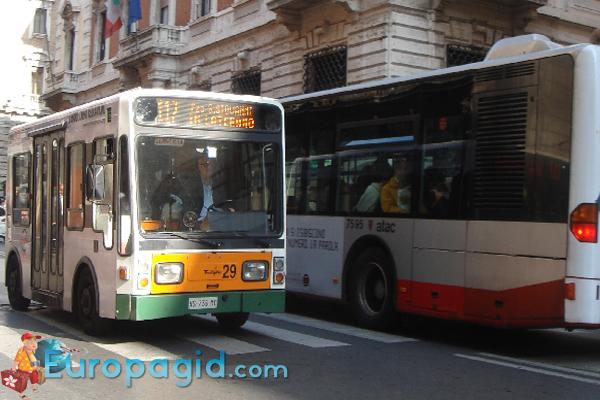 Городские автобусы в Риме для вас