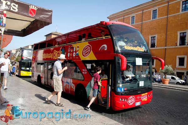 Туристические автобусы Рима