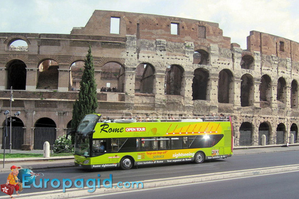 Туристические автобусы в Риме