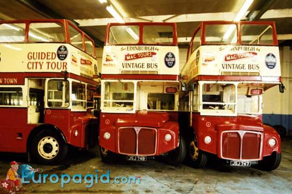Туристические автобусы в Эдинбурге