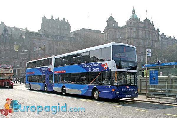 Городские автобусы в Эдинбурге