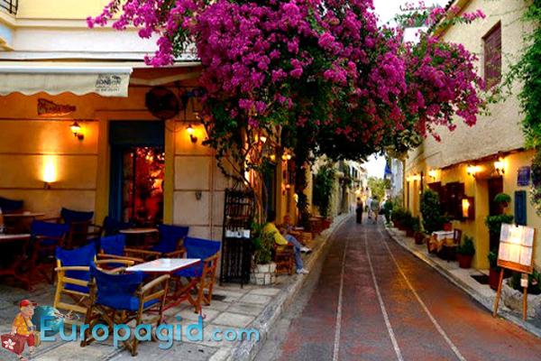 Район Плака в Афинах для всех