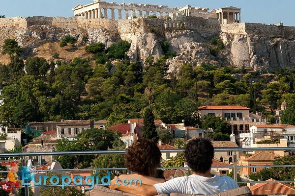 Район Плака в Афинах