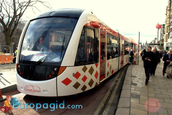 Трамваи в Эдинбурге дизайн