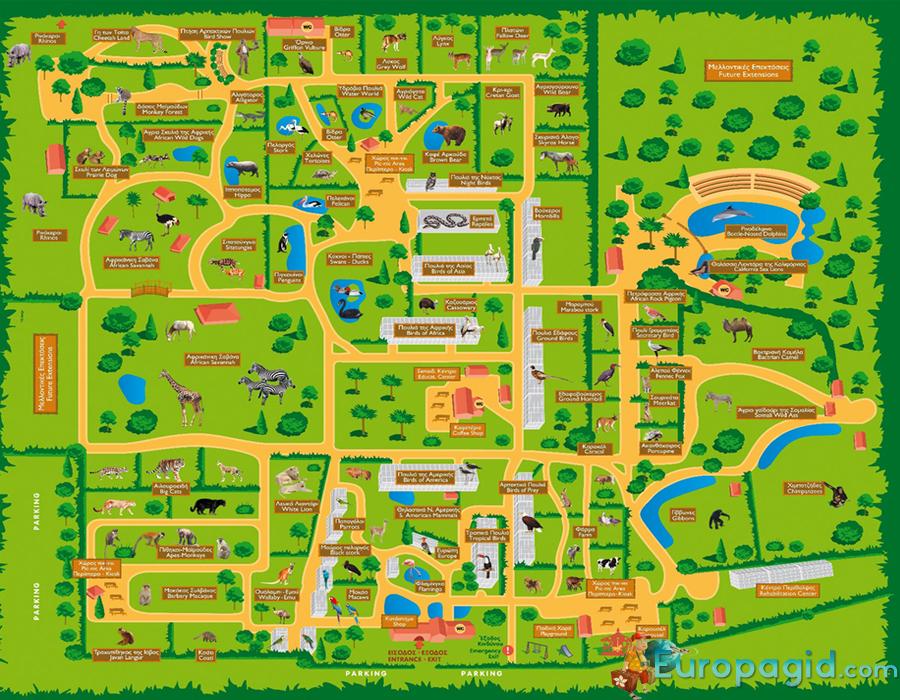 Attica Zoological Park на карте