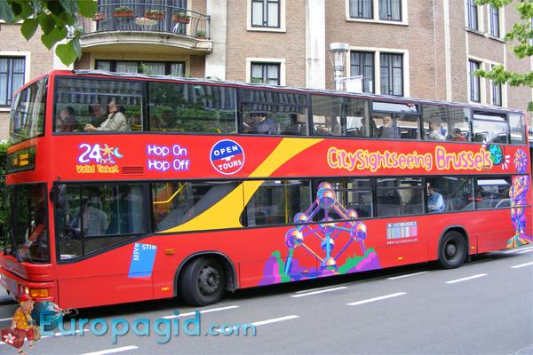 Туристические автобусы в Брюсселе