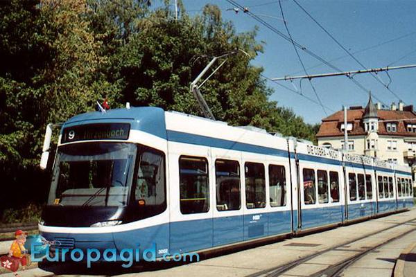 Трамваи в Цюрихе виды