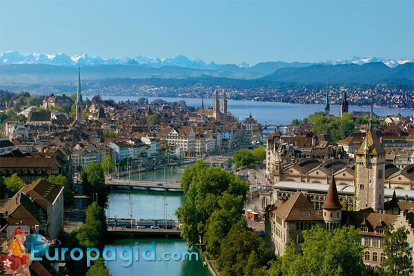 Цюрихское озеро в Цюрихе